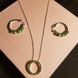 Gorgeous Peridot necklace set by Avon